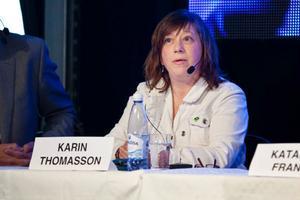 Karin Thomasson, ordförande (MP) för kultur- och fritidsnämnden
