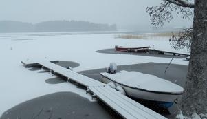 Våren kom och båtarna sjösattes...Men vintern kom tillbaka!!