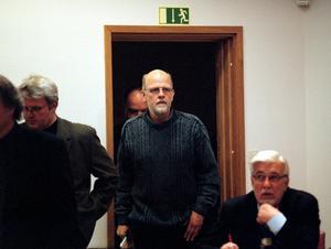 Tomas Quick i Stockholms tingsrätt i maj 2001. Rättegången fick hållas i Stockholms tingsrätts säkerhetssal av säkerhetsskäl.