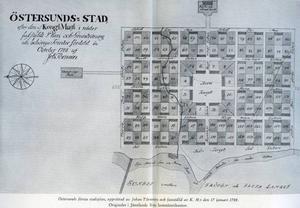 Karta från föreningen Gamla Östersund, årsskrift 1949.