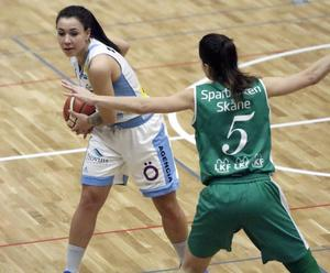 Danielle Elvbo, Östersund Basket. Damligan. Östersunds Sporthall