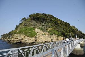 Gångbro vid ön Sarushima.   Foto: Said Karlsson/TT
