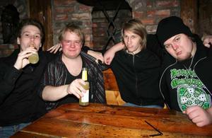 Konrad. Jon, Christian, Jimmy och Fredrik