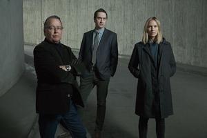 """Göran Ragnerstam, Richard Forsgren och Moa Gammel är alla tre tillbaka i """"Jordskott"""" säsong 2, som har premiär 15 oktober i SVT och på SVT Play."""
