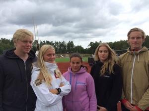 Gänget från Timrå AIF som tävlade på junior-SM i Hässleholm.