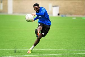Omeje gjorde fyra mål på tio matcher från start förra säsongen.