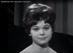 1966 spelade Mona Grain i Tjaddenrevyn. Samarbetet med Tjadden Hällström varade i flera år. Foto: Youtube