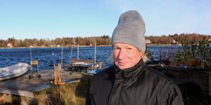 Pelle Pia Hedberg hemma på Gräddö