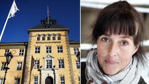 Professor Erika Schagatay i Östersund leder forskningen. Fotomontage av arkivbilder.