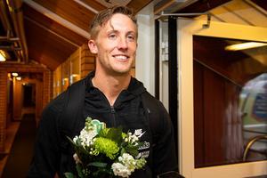 Jesper Svensson var strålande glad efter matchen.