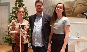 På bilden fr v Johanna Östling, Mats Lissjanis och Sofia Östling. Foto: Eva Östling