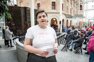 Mathilda Genberg,  Joursamordnare på Tjejjouren Skogsrå.