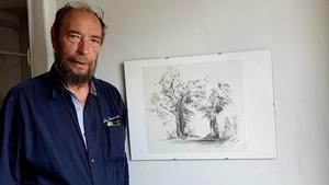 Konstnären Karl Leisenberger.
