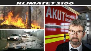 Mats Bergmark, varnar för mer extremt väder med översvämmade dricksvattentäkter, stora skogsbränder, jobbiga värmeböljor och kraftiga skyfall.