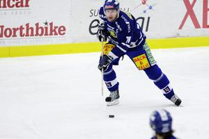 Stilstudie av Martin under en match mellan Sundsvall Hockey och Borås HC på Gärdehov.