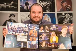 Det blir några bilder under en Melodifestivalresa. Mattias Hansson brukar samla de bästa i en fotobok. De här är från 2018.
