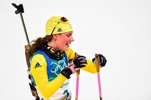 Hanna Öberg slutade sjua i damernas skidskyttesprint. Bild: Petter Arvidson/Bildbyrån