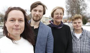Hällefors politiska majoritet: Katja Ollila (V), Johan Stolpen (V), Susanne Grundström (S) och Annalena Järnberg (S).