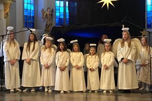 Det traditionsenliga julspelet i Härnösands domkyrka lockade stor publik.