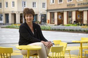 Marie Centerwall hoppas det nya torget ska bli en mötesplats för alla.
