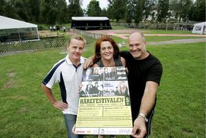 2011 var Karin med och arrangerade Härefestivalen i Indal tillsammans med t.h. Kent Nordlund och Håkan Alfredsson.