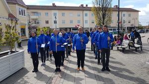 Kulturskolan kunde genomföra vårparaden med Ungdomsorkestern och slagverkarna i lördags.