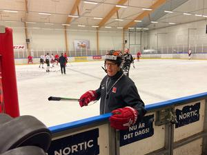 Niklas Eriksson under fredagens träning i Växjö.