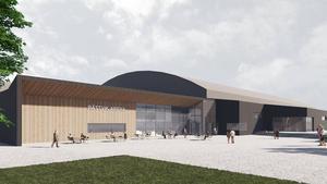 Än så länge finns endast skisser på den nya arenan - färdiga ritningar tas nu fram av Gatun Arkitekter och ska sedan lämnas in med bygglovsansökan. Bild: Gatun Arkitekter, som tidigare hette Scheiwiller Svensson Arkitektkontor.