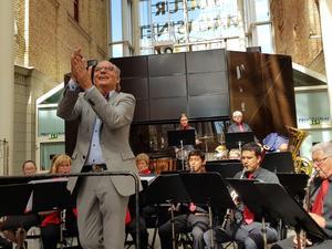 Thomas Gathe har lett Sundsvalls Blåsorkester i 30 år. Bild: Ulla Hörnell