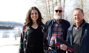 Emilia Rapp, Leif Grip och Göran Hammarberg har stora förhoppningar om att kunna förverkliga planerna på ett nybyggt seniorboende i Fränsta.