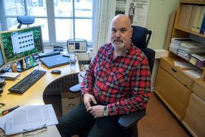 Peter Persson, arkeolog på Länsstyrelsen i Härnösand.