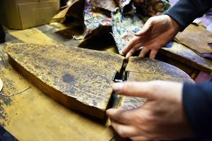 Genom många års erfarenhet kan Leif också förklara vad varje enskild pinal faktiskt användes till.