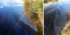 Det ska röra sig om 15-20 liter olja som läckte ut i ån.