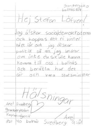 Axels brev
