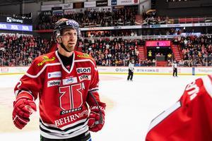 Rasmus Rissanen vilade på onsdagen men spelar mot Växjö. Bild: Maxim Thore/Bildbyrån