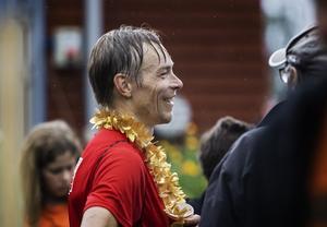 Johan Näsman från Stockholm vann halvmaran herrar.