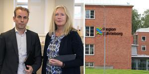 Regiondirektör Johan Färnstrand och regionrådet Eva Lindberg, S, lägger fram en åtgärdsplan för Region Gävleborg.