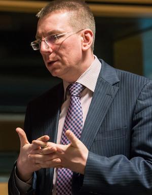 Edgars Rinkēvičs., Lettlands utrikesminister.