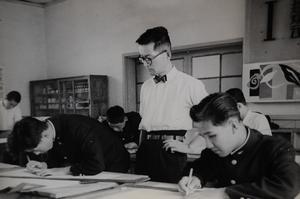 En gymnasieklass i Kanagawa 1963. Foto: Takato Marui
