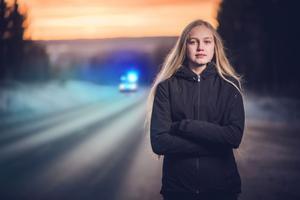 Stina Almqvist satt i olycksbussen tillsammans med ett 50-tal av hennes skolkamrater på Ängskolan. Foto: Peter Lindgren.