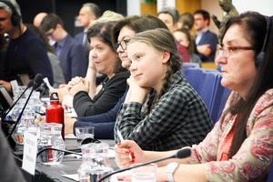 – Det var en kamp att få Greta Thunberg (på bilden) till EU-parlamentet. Det var inte alls någon självklarhet för exempelvis EPP-gruppen att hon skulle få komma hit. De konservativa tycker att hon ska gå i skolan, men nu var det ju skollov. Hon fick inte tala i plenum, utan det blev ett utskottsmöte. Jag har aldrig sett ett så fullt utskottsmöte, säger Bodil Valero.