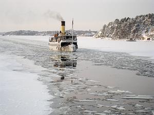 s/s Blidösund, på väg mot Almviks brygga. Foto: Blidösundsbolaget