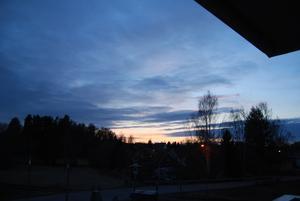 Kvällsbild i Alfta.