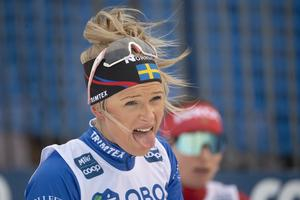 Frida Karlsson ger den glada tröttheten ett ansikte. Foto: Henrik Montgomery/TT
