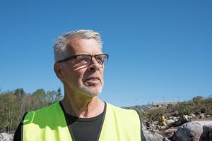 Arkeologen Sven-Gunnar Broström säger att skålgroparna på Norviks berghällar var ett speciellt fynd.
