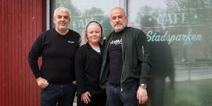 Bröderna George och Imad  Mourad ska driva Nya Café Stadsparken. Till sin hjälp med det har de driftsansvariga Ida Wilhelmsson.