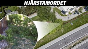 Här hittades kroppen som preliminärt identifierats som den saknade Lena Wesström - bara 160 meter från hennes hem.  Bilden är ett montage