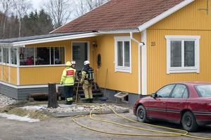 En pelletspanna orsakade en utryckning av räddningstjänsten.