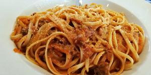 Väldigt mycket pasta. Foto: Lunchkollen