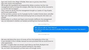 Skärmdump från messengerkonversation med Denis Popkov.
